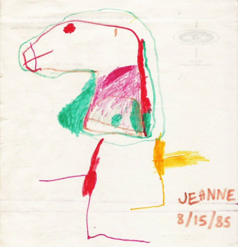 Horse head drawn at age 3.