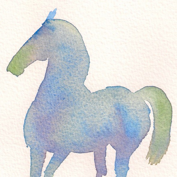 blue dancing horse 1