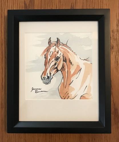 Sorrel horse framed
