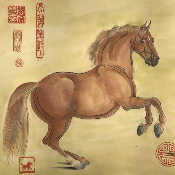 Chinese painting in tribute to George Stubb's Whistlejacket